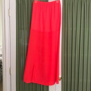 Love culture neon pink maxi sheer skirt